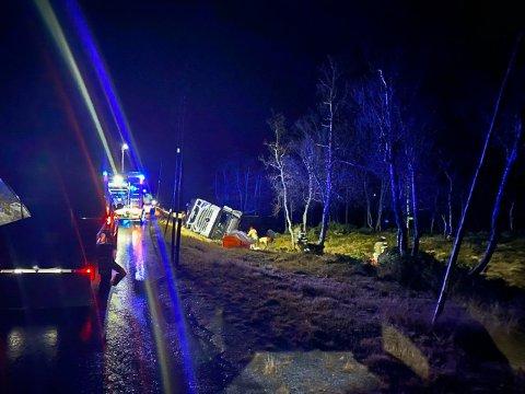 Eidfjord brannvern rykket ut til Sysendalen i natt. Foto: Eidfjord brannvern