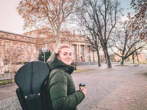 Mina Gursli Langesæter  frå Lofthus kjem seg ikke heim til jul i år, men har likevel planar for feiringa i Tyskland saman med andre internasjonale studentar som har valt å bli.
