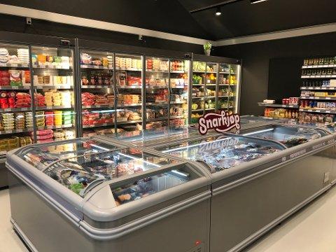 Den nye daglegvarebutikken på Maurset er knytt til kjeda Snarkjøp.