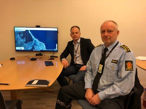 Rådmann Ole-Jørgen Jondahl og lensmann Terje Kvalvik