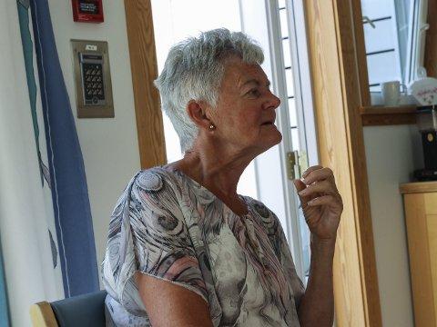 Sjukeheimsplass: Audny Enge Teigland er glad for at mora fekk plass på demensavdelinga på Utneheimen då ho trengde det. For henne er det viktigaste at tilbodet er der når ein treng det.foto: Inga Øygard Jaastad