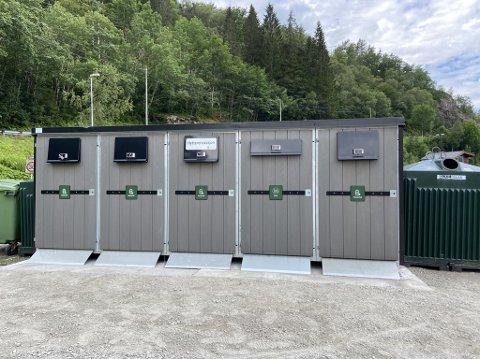 Den nye stasjonen: Ullensvang kommune har sett opp ny stasjon for hytterenovasjon i Jondal.
