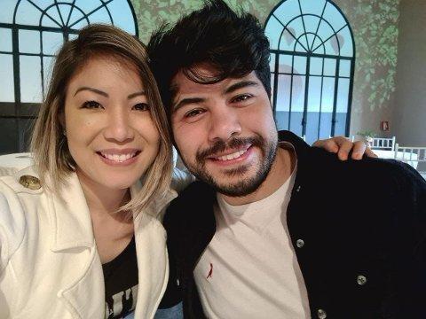 Frå millionbyen São Paulo til vesle Odda.  Alex og kona kjem så snart dei kan. Foto: privat.