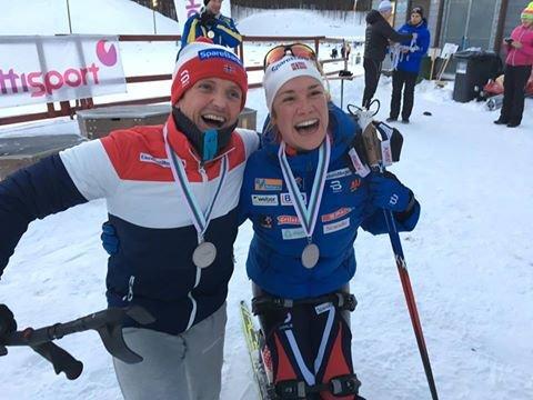2. PLASS: Trygve Toskedal Larsen ble nummer to under verdenscupen i Finland. Her sammen med Birgit Skarstein.