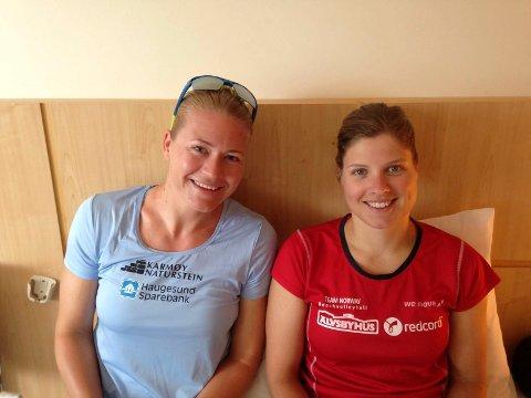 PÅ ROMMET: Janne Kongshavn og Vilde Solvoll (t.h.).