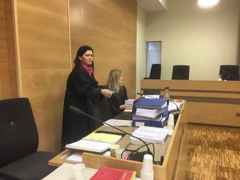 Aktor og bistandsadvokat: Politiadvokat Marte Engesli Lysaker (t.h.) er aktor i saken mot 19-åringen, mens advokat Elisabeth Rød vil representere de tre fornærmede jentene i retten.