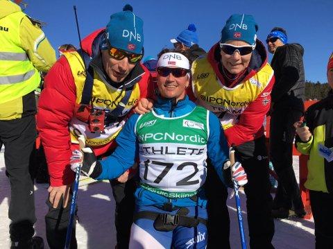 NUMMER TRE: Trygve Toskedal Larsen tok en ny bronse i VM i Tyskland. Foto: Skiforbundet FH på Facebook