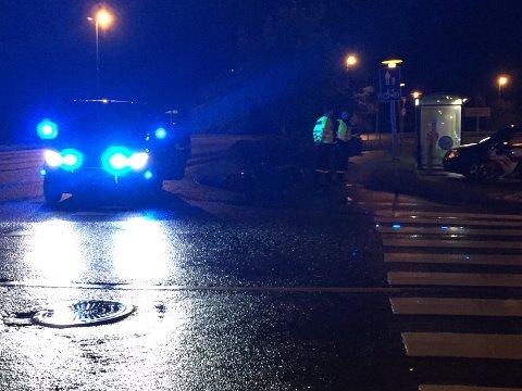 VED OASEN: Uhellet skjedde ved Oasen rundt klokken 22.30. Foto: Alfred Aase