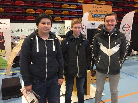 John Kristian Liknes (V), Marius Edvardsen Maridal og Simen Vigdal (H)