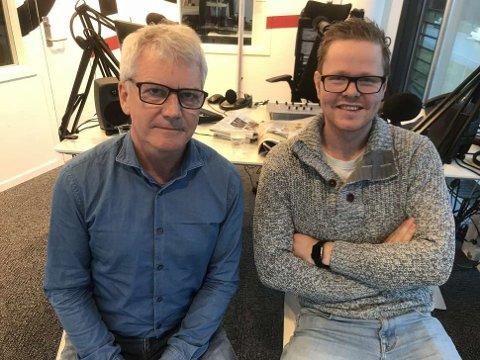 RAMSALT: Freddy Knutsen og Odd Magnus Ferkingstad i 102-studio.
