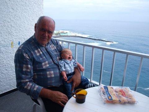 Andreas, mitt barnebarn på fanget på Tenerife.