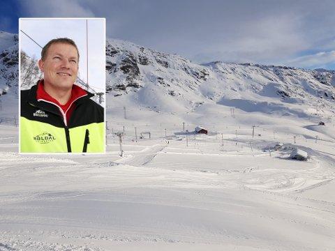 Oddvar Bratteteig i Røldal skisenter ser fram til ei snørik helg.