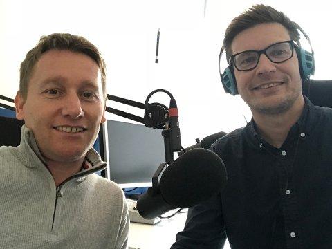 I STUDIO: Ingolf Olsen (t.v.) og programleder Terje Flateby.