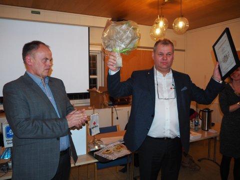 ÆRESMEDLEM: Paul Eggen Jr. ble utnevnt til æresmedlem av Haugesund Røde Kors.