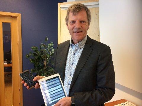 HAR UTVIKLET NY APP: Alf Kenneth Bråthen i Rosberg AS har utviklet en ny app som skal hindre daglig leder svindel.