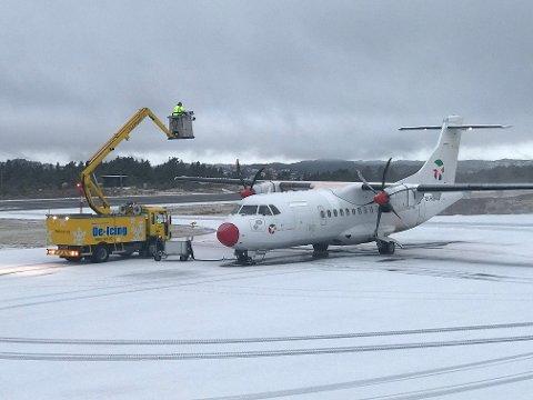 STORD: Avgangene til og fra Oslo flys med fly fra DAT (Danish Air Transport).