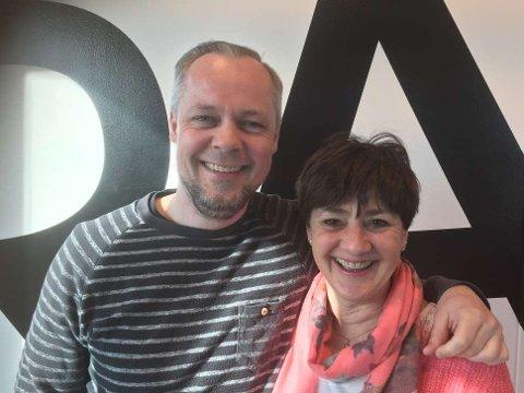 May Britt Vihovde og Bjørn Gunnar Husby på besøk i Radio 102.