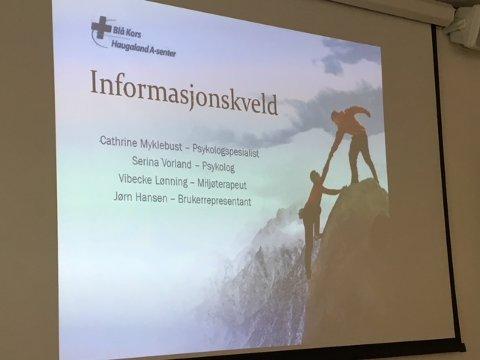 INFORMASJON: Tirsdag og onsdag gir Haugalandet A-senter informasjon for og om pårørende.