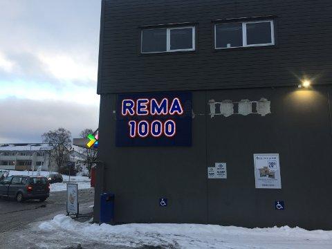 BLE RANET: Denne Rema-butikken på Stord.