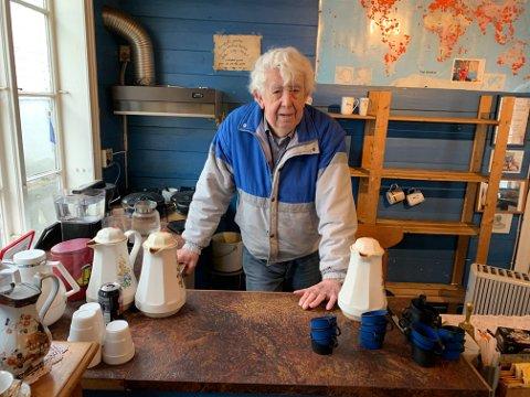 Johannes Hansen fortviler over at kafeen ble stengt av Mattilsynet.