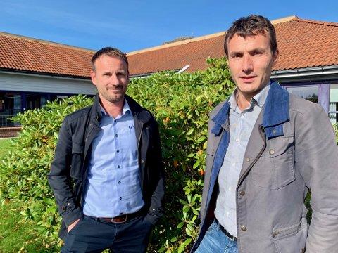 UTVIDER: Styreformann Jone Tveit og daglig leder Jarle Haugen i Tveit Regnskap fikk 1. juli Gjesdal Regnskap med på laget.