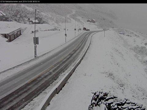 Slik ser det ut i Røldal onsdag morgen.