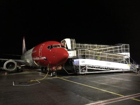 HELGANES: Norwegian setter opp ekstra avganger til Oslo.