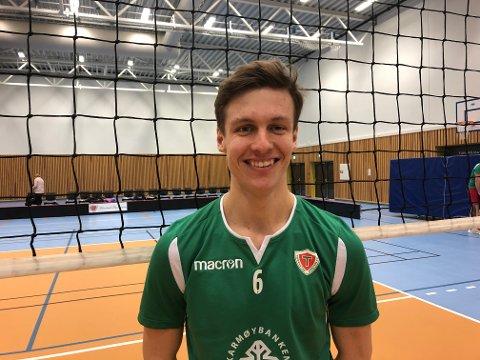 HAR AMBISJONER: 18 år gamle Mads Viland Søreng fra Haugesund spiller på Torvastad og for ToppVolley Norge, hvor han er elev. FOTO: JOAKIM ELLINGSEN