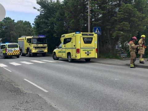 Tirsdag ettermiddag ble det meldt om trafikkulykke like ved Kiwi i Spannavegen.