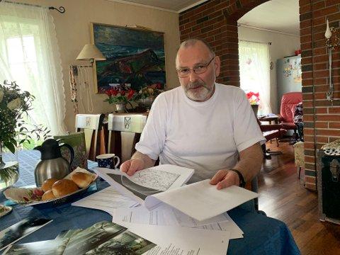 Mye papirarbeid: I seks år kjempet Roger Huseby med helsevesen og forsikringsselskap før han fikk tilbud om erstatning.