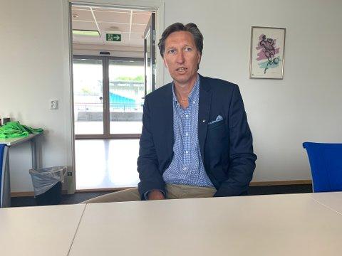 STYRELEDER I FKH: Leiv Helge Kaldheim på Haugesund stadion fredag.