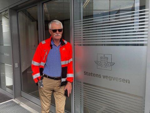 VIL IKKE SPÅ: Prosjektleder Einar Færaas i Statens vegvesen kan ikke si noe om når det nå blir byggestart i Karmsundgata.