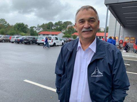 Helge Thorheim har permisjon i fra sykehuset og var fredag i Kopervik i forbindelse med valgsending på NRK.