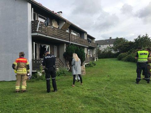Tirsdag brant det i en av disse leilighetene i Torvastadgata.
