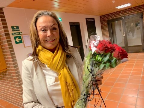 Susan Borg var tydelig rørt over oppslutningen i hjembyen Skudeneshavn.