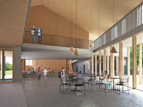 NÆRMER SEG: Allerede om en drøy måned starter byggingen av ny barneskole og idrettshall.