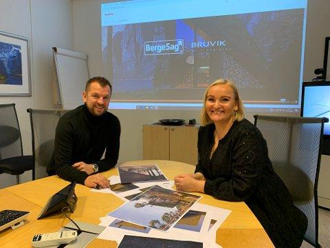 SAMARBEIDER: Klokkemaker Rune Bruvik og arkitekt Camilla Lunde Thorsen gikk til oppdraget med liv og lyst. Nå kan de presentere konsept-hytta Senja.