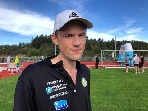 SPENNENDE LØPER: Den relativt ukjente Kristoffer Nordhus imponerte under Haugesunds Avis halvmaraton lørdag.