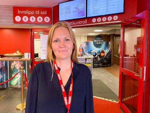 EDDA KINO: - Året åpnet bra, men samlet sett hadde vi en nedgang i besøket i 2020 på 56,5 prosent i forhold til 2019, sier kinosjef Marit Sætre Færevåg ved Edda kino.