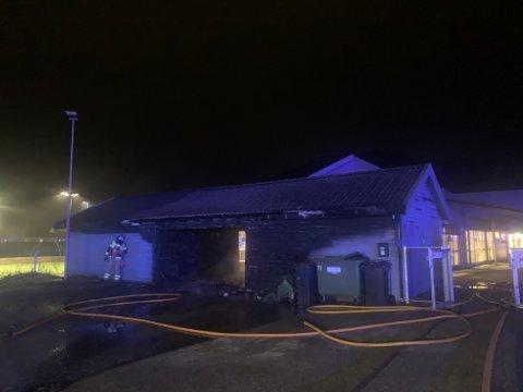 NEDBRENT: Vognskuret fikk omfattende skader under brannen 19. februar.