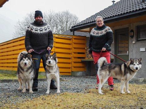 NY GIV: I januar 2020 overtok Ingvild Støle (45) Støle hunde- og kattepensjonat, hvor hun møtte Olav André Litlabø (37). Koronakrisen gjorde driften umulig, men nå gir de pensjonatet en ny sjanse. Hundene Tala, Nukka og Kayaque flytter også inn.