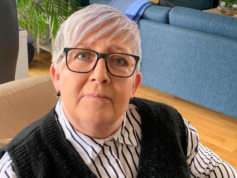 IKKE GOD: – Haugesund, Karmøy og Tysvær har alle god struktur på dette med sårbehandling, men ikke Sveio, mener Målfrid Bjelland Nymark (63).