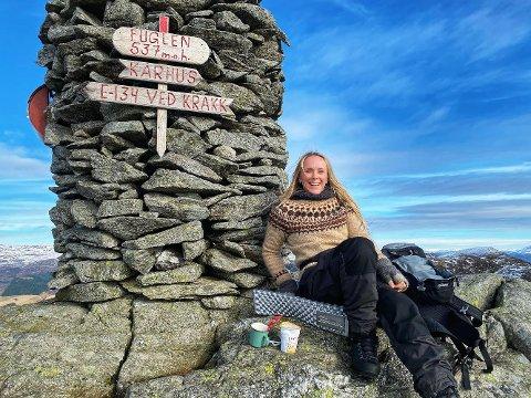 TURGLAD: Susanne Byre er rett som det er på tur - og deler gjerne sine lokale favoritter.