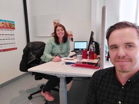 HAR SAGT OPP: Katrine Marie Haga Nesse og Martin Eikrem har sagt opp sine stillinger som henholdsvis kommuneoverlege og smittevernlege i Karmøy kommune.
