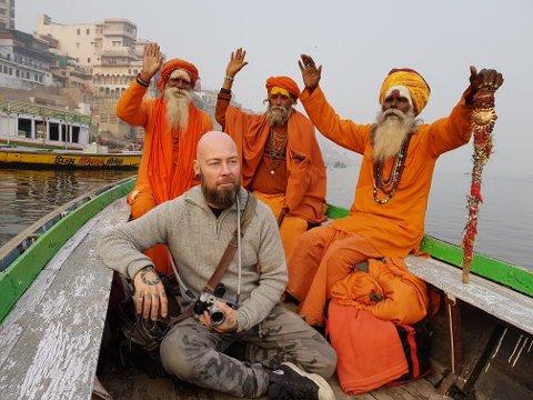 I INDIA: Steinar Sortland har reist verden rundt i jakt på gode portretter. Flere motiver har han funnet i India.