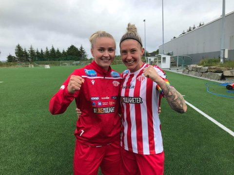 PREGET KAMPEN: Anna Jøsendal (t.v.) scoret to av Avaldsnes tre mål fra venstre vingback, mens midtstopper og kaptein Robyn Decker var en gigant i forsvaret.