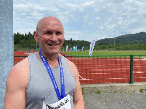 FORNØYD: Arnt Skiftestad er ikke første mann i mål, men liker å delta i trimløp.