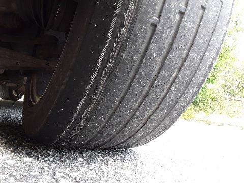 SLITT: Føreren av denne bilen måtte la den stå igjen etter kontrollen.