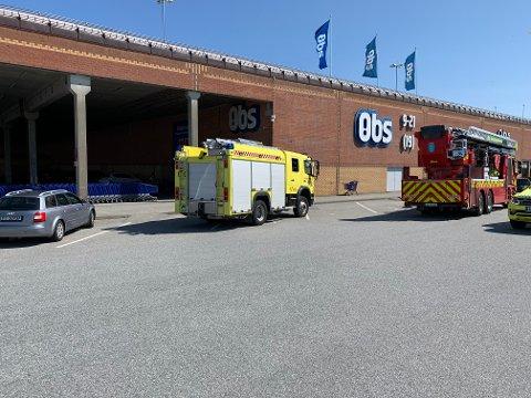 MELDING OM BRANN: Onsdag ettermiddag rykket nødetatene ut etter melding om branntilløp i en fryseboks.
