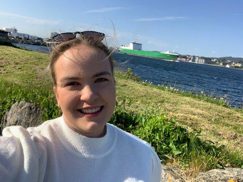 GLAD: Helene Norum (18) gleder seg til å studere nautikk ved Høgskulen på Vestlandet til høsten.